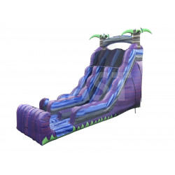 Purple Marble Dual Lane Inflatable Dry Slide
