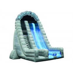 Roaring River Dual Lane Inflatable Dry Slide