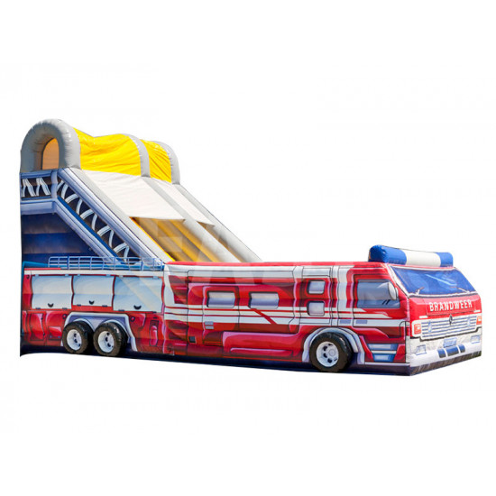 Fire Truck Inflatable Slide