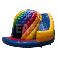 Disco Jumping Castle With Slide