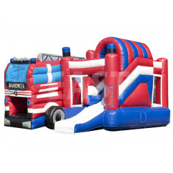 Fire Department Inflatable Jumping Castle Slide