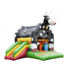 Cow Inflatable Jumping Castle With Slide