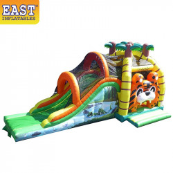 Jungle Jumping Castle With Slide