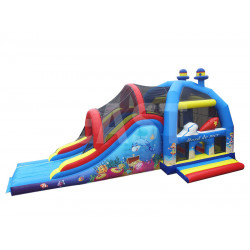 Sea Jumping Castle With Slide