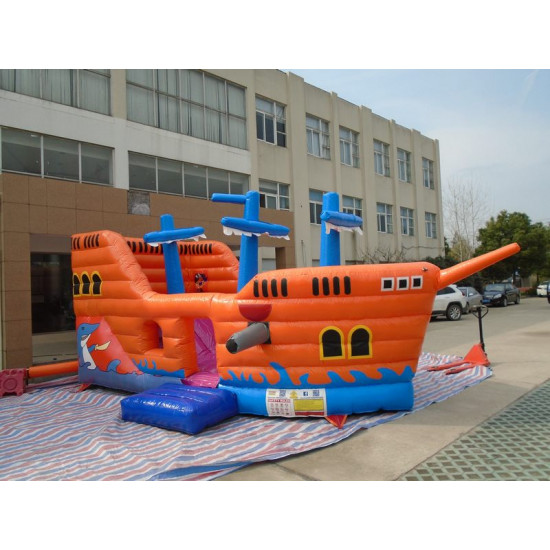 Pirate Ship Jumping Castle With Slide